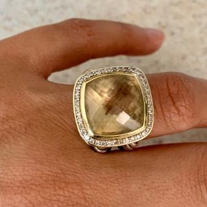 DY Albion® Ring with Champagne Citrine/Diamonds